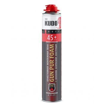 Пена полиуретановая монтажная профессинальная огнестойкая всесезонная KUDO PROFF 45+